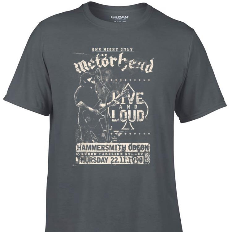 Awesome One Night only Motorhead Live And Loud shirt 1 - Awesome One Night only Motorhead Live And Loud shirt