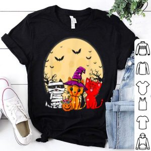 Awesome Three Cats Funny Halloween Gifts For Women shirt
