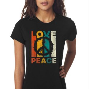 Awesome Vintage Love Peace shirt 2