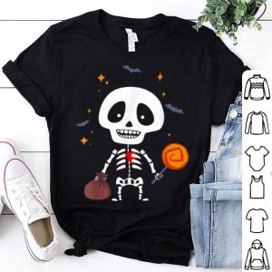 Beautiful Cute Baby Skeleton With Candy - Funny Halloween Vintage shirt