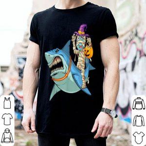Beautiful Witch Mummy Riding Shark-Mummy Halloween Costume shirt
