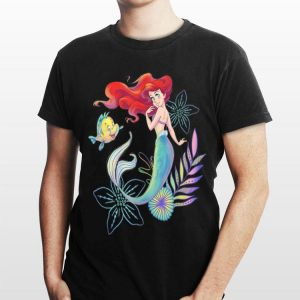 Disney The Little Mermaid Ariel And Flounder Sea shirt