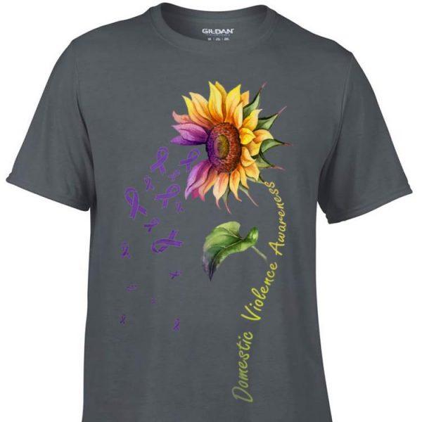 Domestic Vilolence Awareness Sunflower sweater