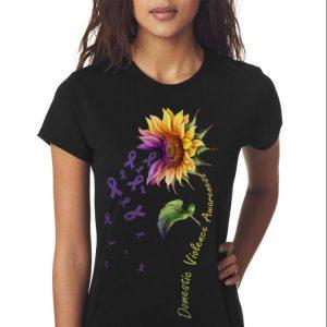 Domestic Vilolence Awareness Sunflower sweater 2