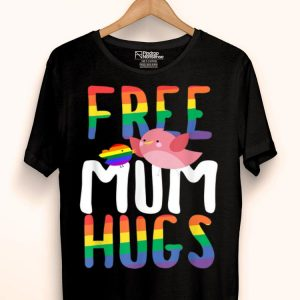 Free Mum Hugs LGBT Gay Pride Rainbow Bird Flag shirt