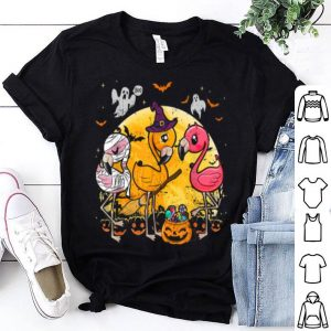 Funny Flamingo Lover Funny Pumpkin Halloween Party shirt