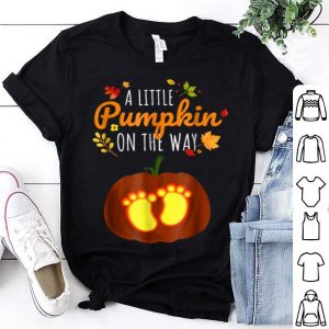 Funny Pregnant Halloweens Funny Little Pumpkin Pregnancy shirt