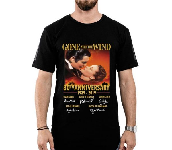 Gone with The Wind 80th Anniversary 1939-2019 Signature shirt