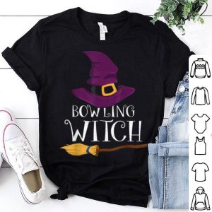 Hot Bowling Witch Trick Or Treat Costume Bowling Halloween shirt