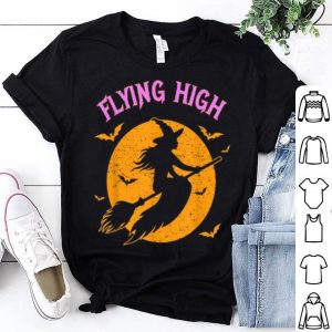 Hot Halloween Witch Broom Pun Quote shirt