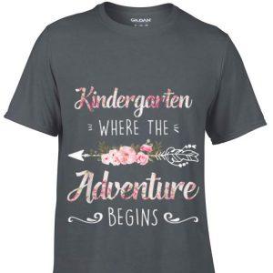 Kindergarten Where The Adventure Begins Floral sweater
