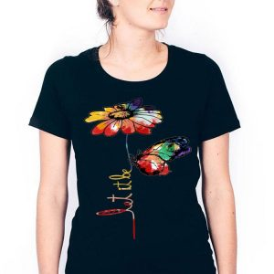 Let It Be Colorful Flower And Butterfly shirt