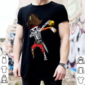 Nice Dabbing Skeleton Jolly Roger Pirate Ice Hockey Halloween shirt