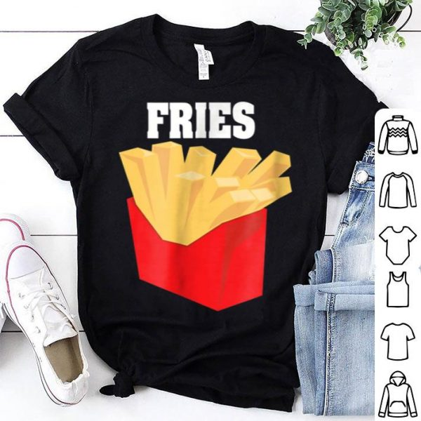 Nice French Fries Couples Halloween Costume Burger & Fries shirt