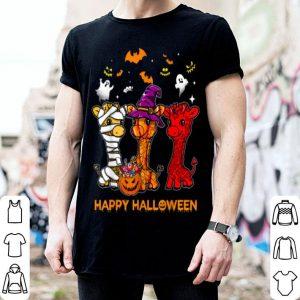 Official Giraffe Happy Halloween Cute Mummy Witch Pumpkin shirt