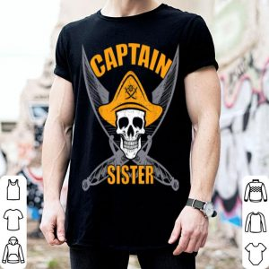 Original Pirate Captain Sister Funny Halloween Party Costume Gift shirt