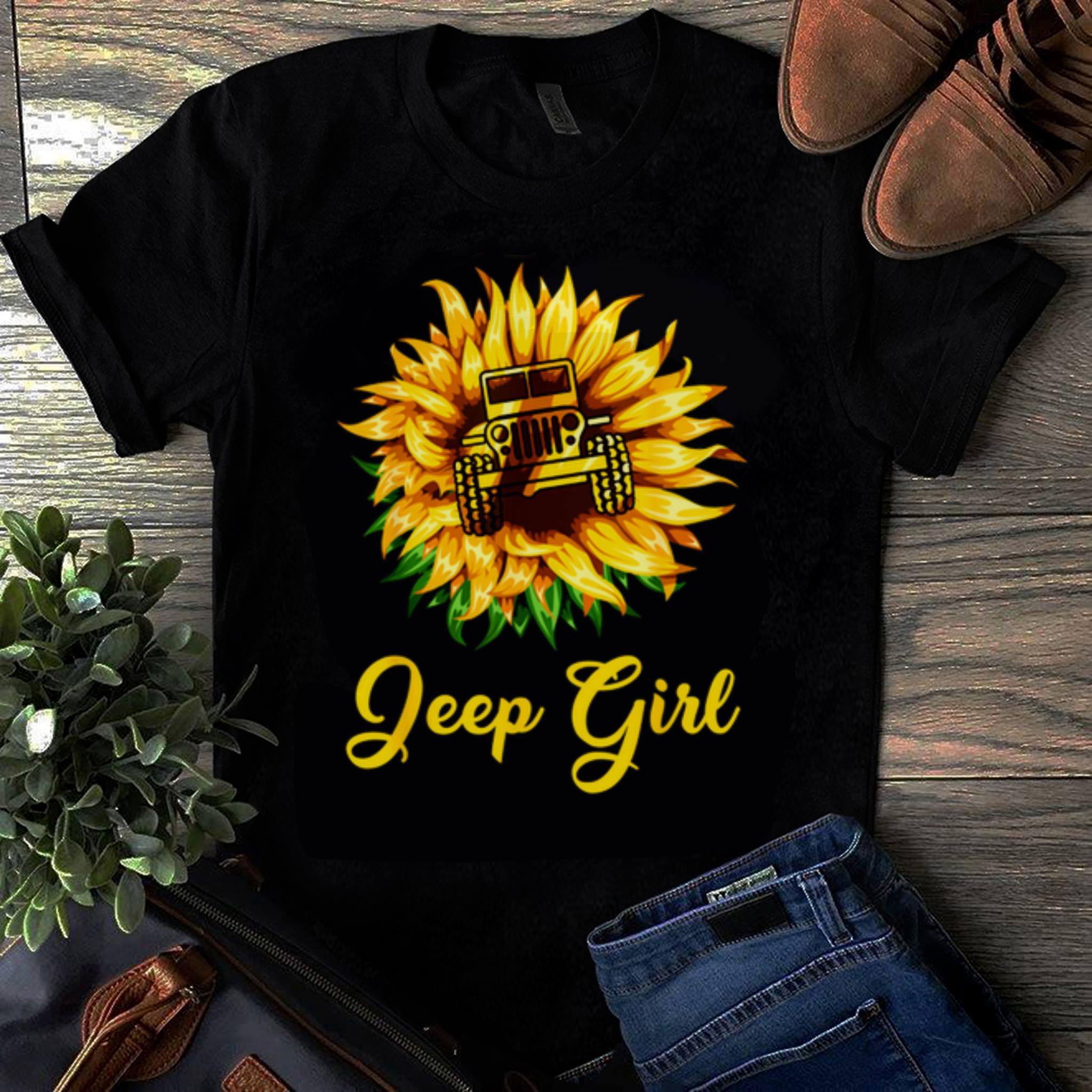 Original Sunflower Jeep Girl shirt 1 - Original Sunflower Jeep Girl shirt