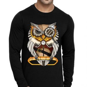 Owl Gear Cogs Clockwork Steampunk Mechanical shirt