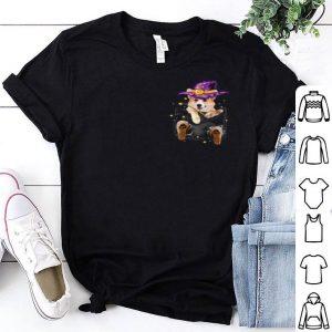 Premium Corgi Witch In Pocket-corgi Halloween shirt