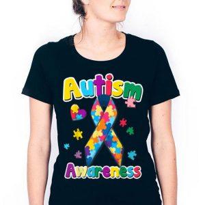 Ribbon Puzzle Pieces Colors Autism Awareness shirt