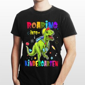 Roaring Kindergarten Dinosaur T-Rex Back To School shirt
