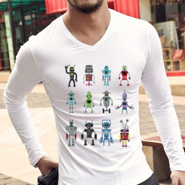 Robot Emoji Ai Geek Science Robotics Vintage shirt