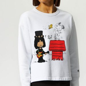 Slash Guns N' Roses Snoopy And Woodstock shirt