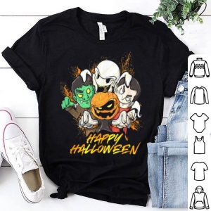 Top Halloween Pumpkin Face Vampire Ghost Frankenstein shirt