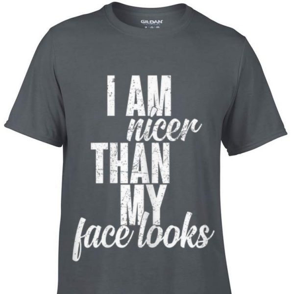 Top I Am Nicer Than My Face looks guy tee