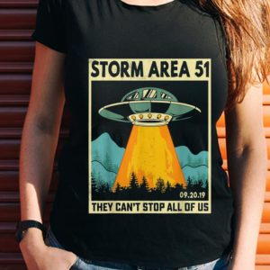 Wonder UFO Alien Storm Area 51 They Can't Stop All Of Us shirt