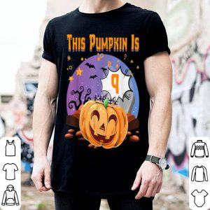 Beautiful 9th Birthday Halloween Pumpkin For Kids Born 2010 shirt