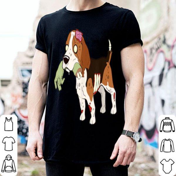 Beautiful Beagle Zombie Hand Funny Dog Halloween Gift shirt