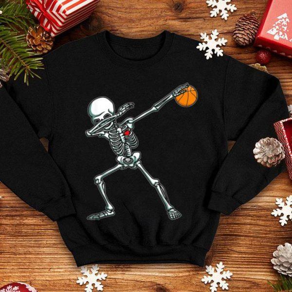 Beautiful Dabbing Skeleton Basketball Funny Halloween Dab Dance shirt
