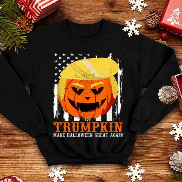 Beautiful USA Trumpkin Make Halloween Great Again Funny shirt