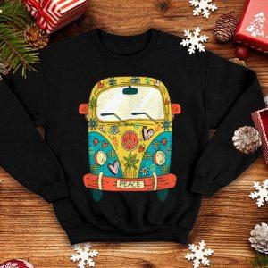 Beautiful Vintage Hippie Bus Van Road Trip Gift Tee shirt