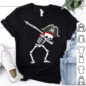 Dabbing Pirate Hat Skeleton Halloween shirt