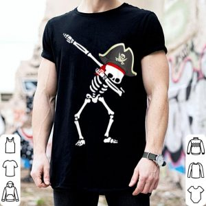 Dabbing Pirate Hat Skeleton Halloween shirt