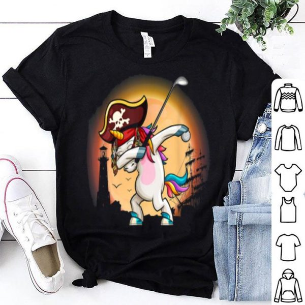 Dabbing Unicorn With Golf Halloween Costume shirt