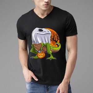 Dinosaur Ghost Halloween Costume Kids Boys Trick Or Treat shirt