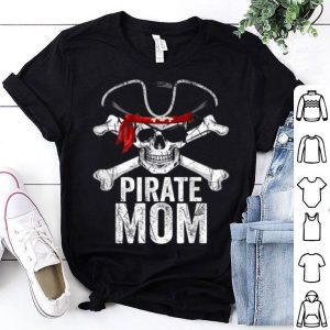 Funny Pirate Mom Matching Family Halloween Costumes shirt