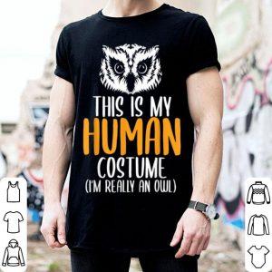 Halloween Funny Adult Kid Owl Apparel, Youth Human Costume shirt