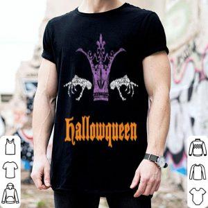 Hallowqueen Queen Halloween Costume Gift shirt