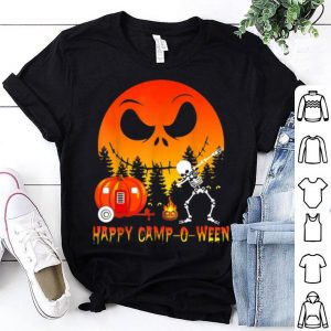 Happy Camp-o-ween - Skeleton Dance - Moon Halloween shirt