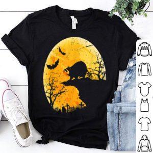 Moon Halloween Raccoon Funny Costume For Animal Lover shirt