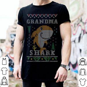 Nice Grandma Shark Ugly Sweater Christmas Santa Mom Women shirt