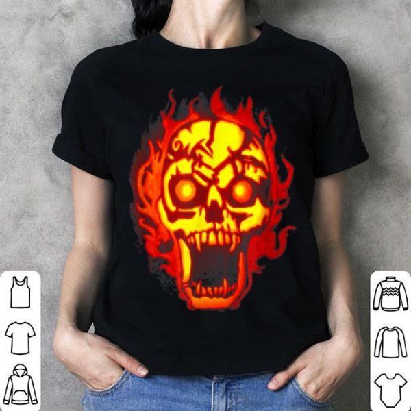 Nice Skull Carved Pumpkin Jack-o-lantern Halloween shirt
