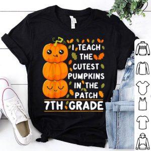 Official Halloween 7th Grade Teacher Cutest Pumpkins Gift shirt