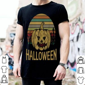 Official Halloween Pumpkin Vintage With Castle, Costume Gift shirt
