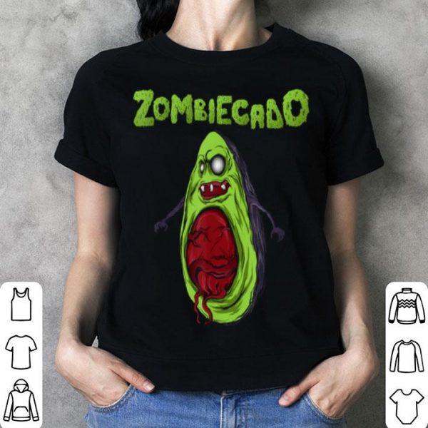 Official Zombiecado Zombie Avocado Halloween Funny T shirt