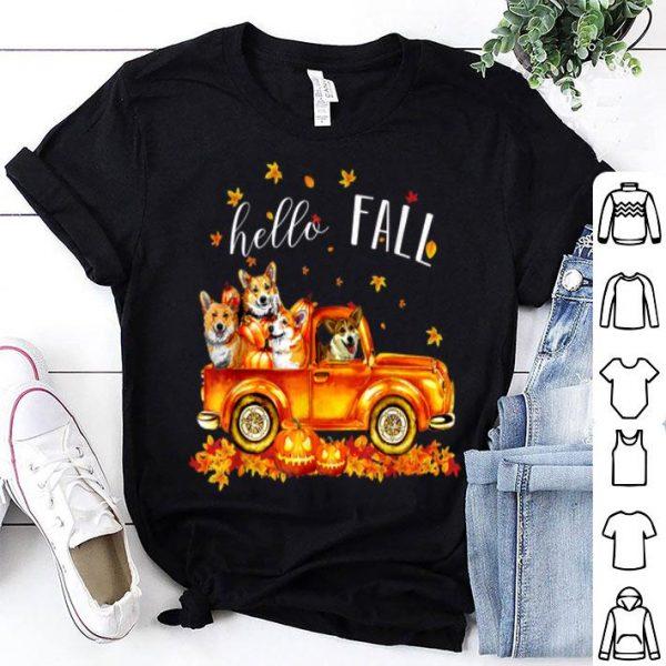 Original Halloween Hello Fall Corgi Funny Corgi gift shirt